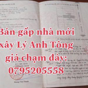 Bán nhà mặt tiền đường Lý Anh Tông